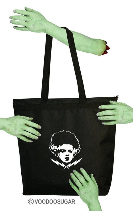Bride Of frankenstein Monster Zipper Tote Bag
