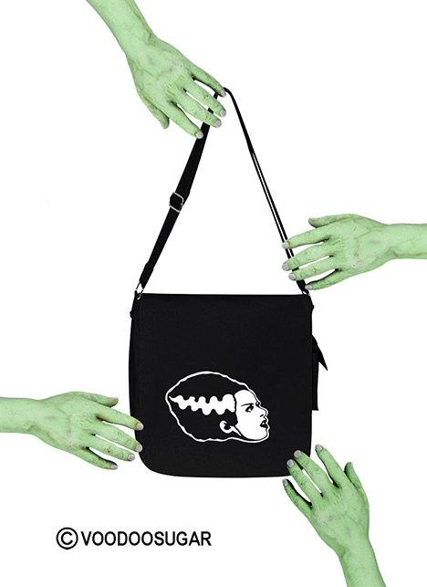 Bride Of Frankenstein Monster Profile Messenger Bag