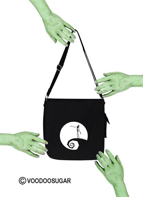 NMBC Jack Skellington on hill Messenger bag
